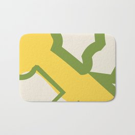 color field - yellow, green, and cream Bath Mat
