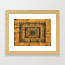 brown and black pixel abstract background Framed Art Print