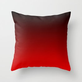 Black and Scarlet Gradient Throw Pillow