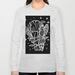Witchy Cleansing Rose Smudge, Crystal & Lavender Long Sleeve T-shirt