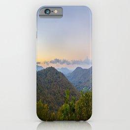 Sleepy valley town iPhone Case