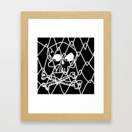 Fenced Off Skull Framed Art Print
