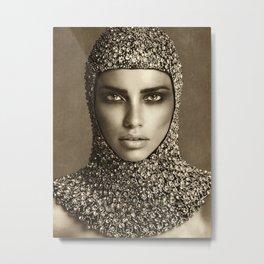 Adriana Lima Vintage 01 Metal Print