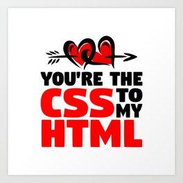 CSS and HTML Art Print