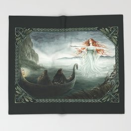 Lady of the Lake Throw Blanket