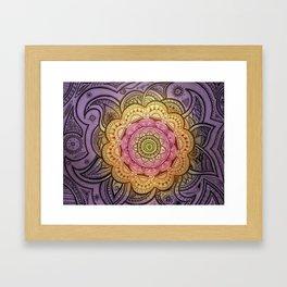 Colorful Mandala Framed Art Print
