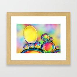 A Rainbow of Hundreds and Thousands Framed Art Print