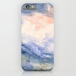 James Ward - Study of a Hill Top and Sky - Digital Remastered Edition iPhone Case