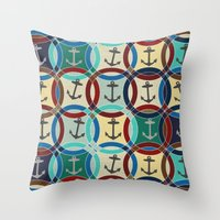 anchors Throw Pillows featuring anchors by Sharon Turner