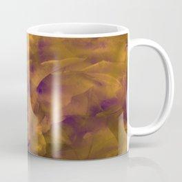 Burnt Copper Floral Clouds Coffee Mug