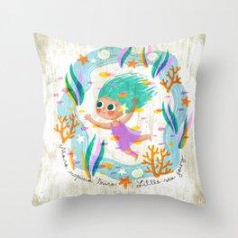 Little Sea Fairy Throw Pillow