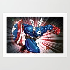 Captain.... Art Print