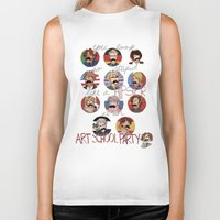 hetalia Biker Tanks featuring Art School Party by invisibleinnocence