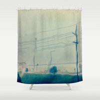 kansas city Shower Curtains featuring Kansas City Rain by Jason Simms