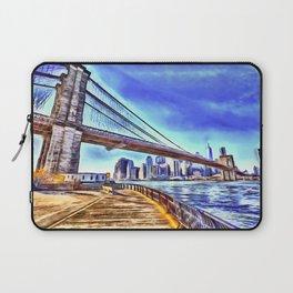 Brooklyn Bridge New York Art Laptop Sleeve