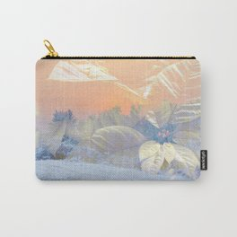 White Poinsettias And Winter Sunset By Annie Zeno Carry-All Pouch