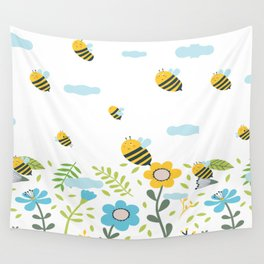 Bee Flaying Wall Tapestry