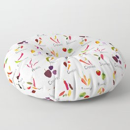 Chili Types Floor Pillow