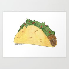 T is for Taco Art Print
