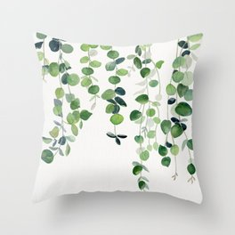 Eucalyptus Watercolor 2  Throw Pillow
