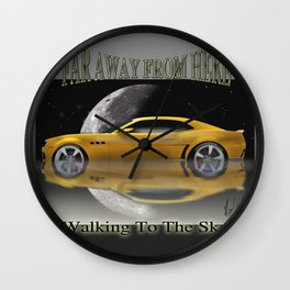 Camaro-Yellow Sport Wall Clock