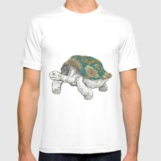 Tortoise White MEDIUM Mens Fitted Tee