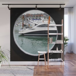 Port Hole View of Boston Wall Mural