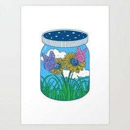 Little jar of happiness Art Print