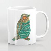 ethnic Mugs featuring Ethnic Penguin by Pom Graphic Design
