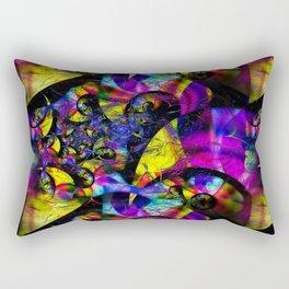 Retro Psychedelic 3D Optical Rectangular Pillow