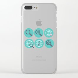 Let Us Search The Internet Clear iPhone Case