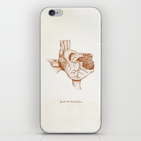 The Heart of Texas (UT) iPhone & iPod Skin