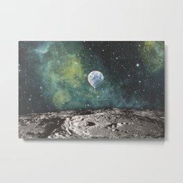 FLOATING THROUGH SPACE Metal Print