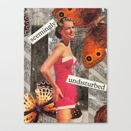 Seemingly Undisturbed Canvas Print