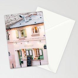 Charming Pink La Maison Rose Restaurant in Paris, France Stationery Cards