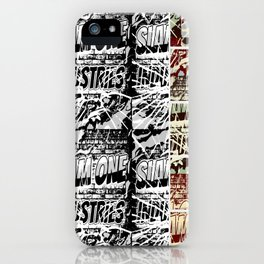 Slam 1 Industries Broken Glass crazy 4 pack iPhone Case