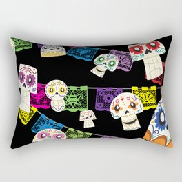 Skulls y Papel Picado Rectangular Pillow