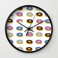 doughnut Wall Clocks featuring Doughnut by PSHAWWHO