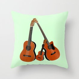 Acoustic instruments Throw Pillow