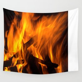 Wood fire Wall Tapestry