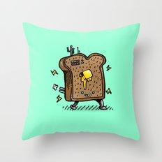 Toast Bot Throw Pillow