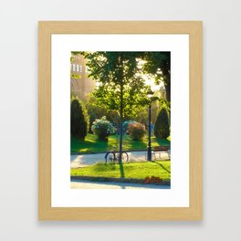 Bicycle at Barcelona Framed Art Print