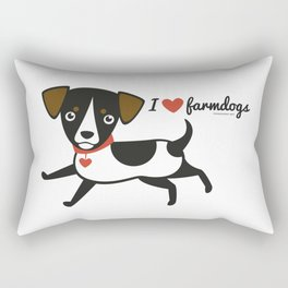 I love farmdogs Rectangular Pillow