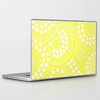 yellow pattern Laptop & iPad Skins featuring Pattern Yellow by Wildflowers and Grace
