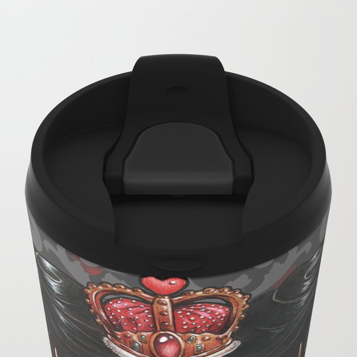 Queen of Hearts Metal Travel Mug