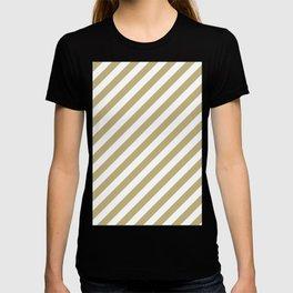 Diagonal Stripes (Sand/White) T-shirt