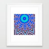 sacred geometry Framed Art Prints featuring Sacred Geometry by Michael White