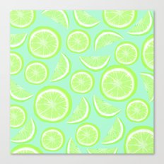 Simply Lime Mint Canvas Print