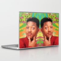 fresh prince Laptop & iPad Skins featuring Will Smith - Fresh Prince by Alice Z.