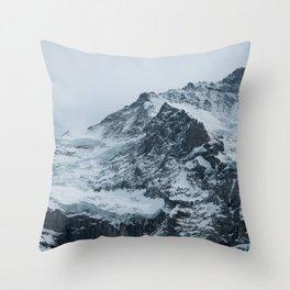 Swiss Alps Throw Pillow